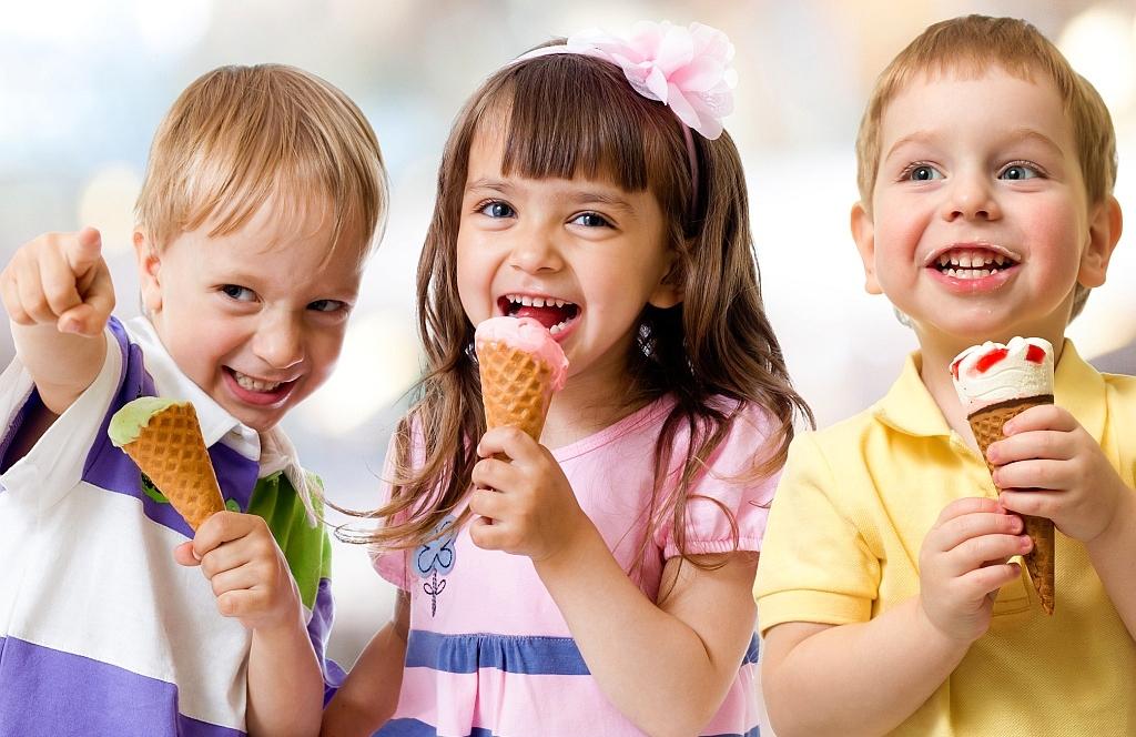 Для детей мороженое